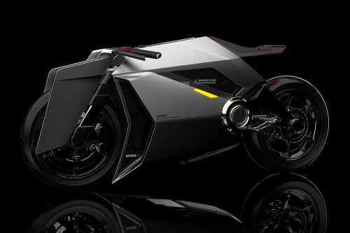 This ambitious electric motorcycle concept has filtered intakes that can purify the air as you drive