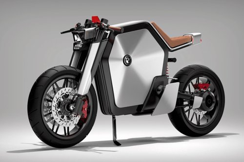 This BMW-inspired café rider predicts that batteries will dominate the design language of future e-bikes