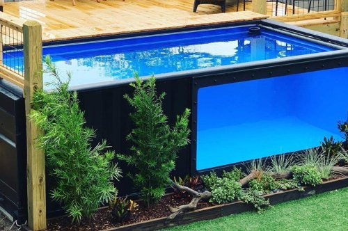 These single-use shipping containers repurposed into swimming pools will bring your backyard to life!