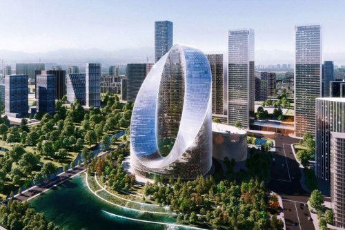 """OPPO's new """"O"""" headquarters by Bjarke Ingels show how architecture + typography are a perfect match"""