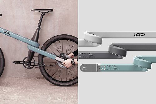 This bicycle's loop frame was designed to be easily dismantled, making it a lighter, smoother ride!