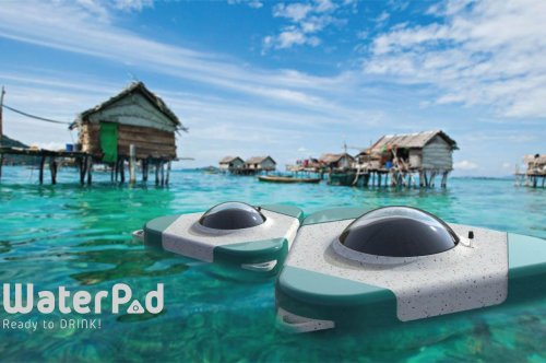 This sustainable floating pod converts seawater into drinking water through a natural desalination process!