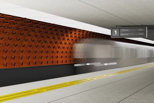 Water-cooled terracotta tiles provide natural cooling to subway stations during the summer