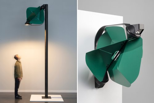 This wind-powered street light is peak sustainable technology for urban architecture!
