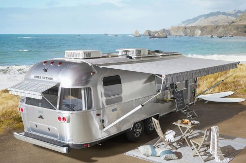 Airstream's Pottery Barn Travel Trailer is here to elevate your outdoor glamping experience!