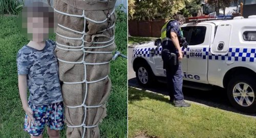 Police called over 'triggering' Halloween decorations at NSW home