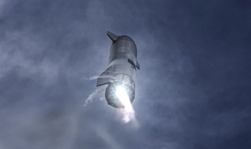 SpaceX posts a clearer look at the Starship SN10 test flight   Engadget