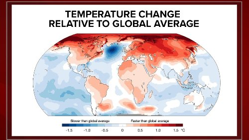 Map reveals warning signs for the rapidly changing climate