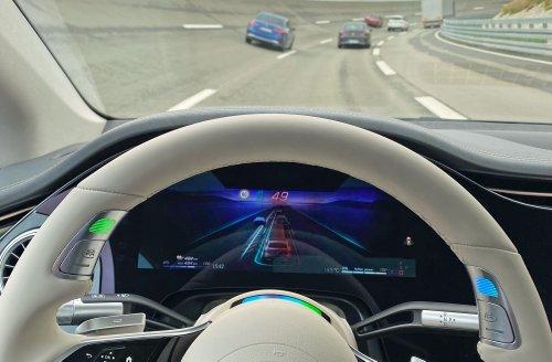 Relaxing behind the wheel of Mercedes' autonomous Drive Pilot   Engadget