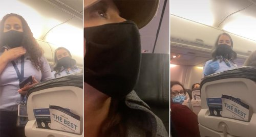 Woman booted from flight for wearing offensive pro-Trump mask