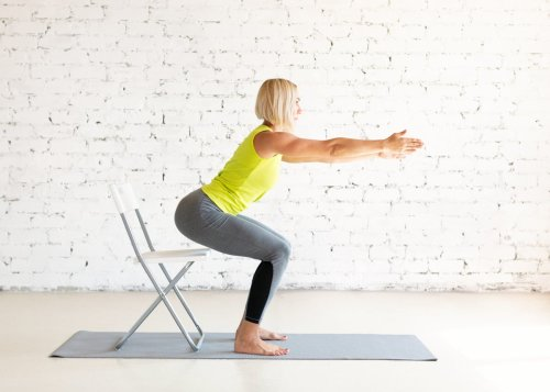 5 Chair Yoga Sequences That Will Have You on the Edge of Your Seat