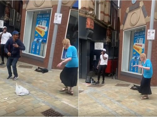 Legendary Leeds dancing pensioner spotted grooving to grime MC outside WH Smith