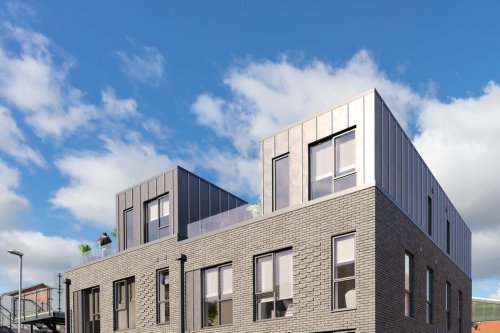 Plans to build luxury 'black brick' three-bedroom homes with roof terraces in city centre