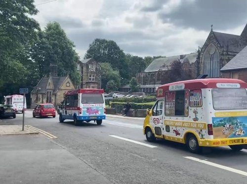 People line streets of Chapeltown to say goodbye to ice cream man 'Kooler Bar' John Collier
