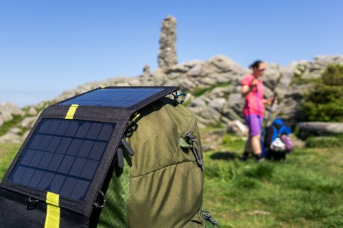 Keep your USB devices and phone charged while camping with a solar charger