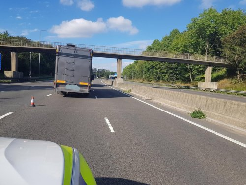 Horse 'led down M62 to services' after stricken horsebox closes motorway