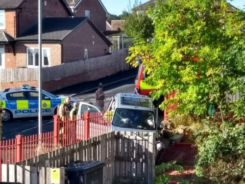Man rushed to hospital after three-vehicle crash on Bramley crossroads