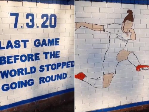 New Leeds United mural from Burley Banksy celebrates Ayling and last game 'before world stopped'