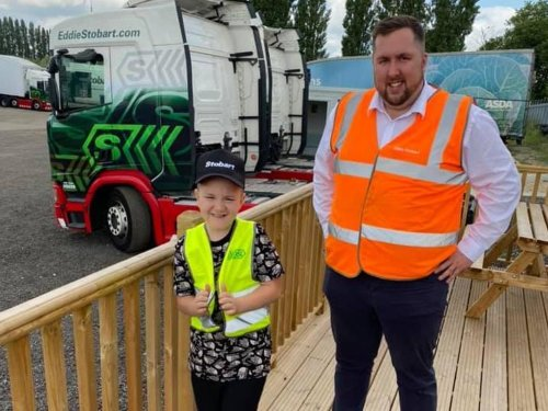 How kind gesture by Eddie Stobart driver made autistic boy's dreams come true as heartwarming post goes viral