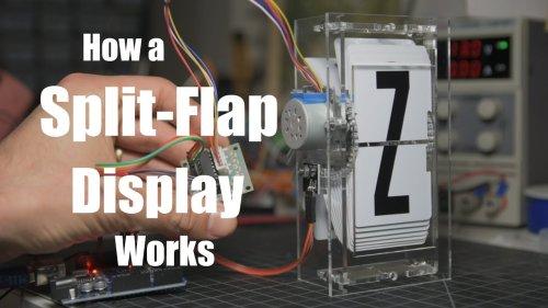 Cómo funcionan los paneles de caracteres split-flap (solapas divididas)