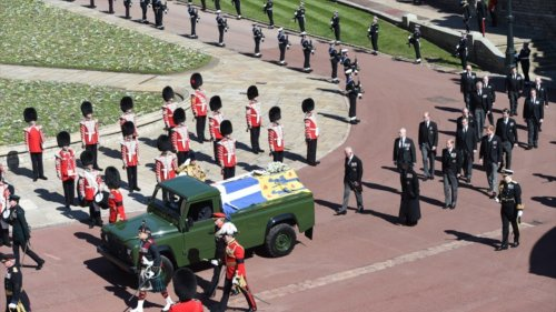 As the cameras cut away, the Royal family said their final farewells to Prince Philip