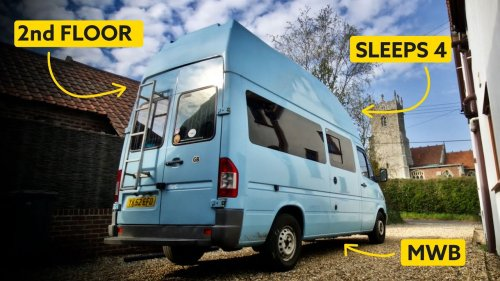 ONE-OF-A-KIND DOUBLE DECKER Van Conversion 🤯INGENIOUS Family Camper 🚐