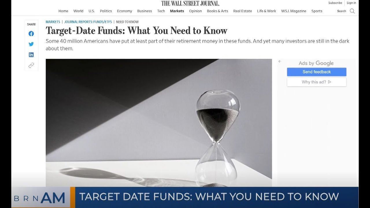 TARGET DATE FUNDS: WHAT YOU NEED TO KNOW - cover