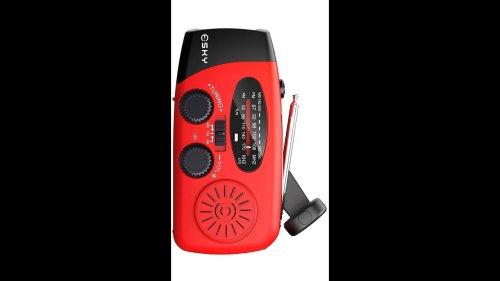 Insane Gadgets You May Need - Portable Solar Hand Crank Radio with Flashlight & Power Bank. #shorts