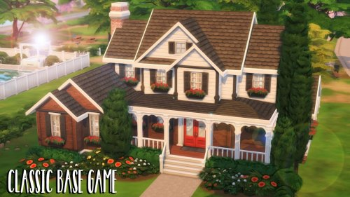 Classic Base Game Home 🏡 // Sims 4 Speed Build