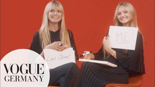 Heidi und Leni Klum: Wer kennt wen besser?   VOGUE Germany