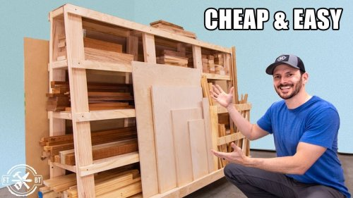 Mobile Wood Storage Cart That's EASY on the Wallet