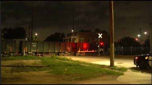 Woman hospitalized after walking into side of moving train, police say