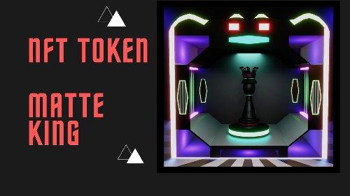 ✅ NFT TOKEN - 3D Market - Matte King - Chess Piece