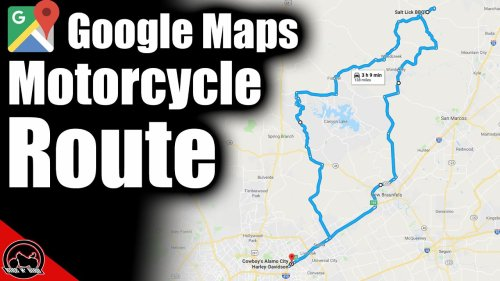 How To Use Google Maps For A Motorcycle Trip or Route