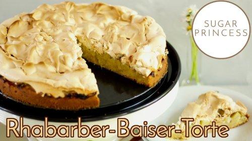 Einfacher, schneller Rhabarber-Baiser-Kuchen! 😍 Der beste Klassiker! 😍 | Rezept von Sugarprincess 🍰🎂