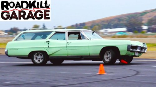 The Pontiac Bonneville Wagon on the Track! | Roadkill Garage | MotorTrend