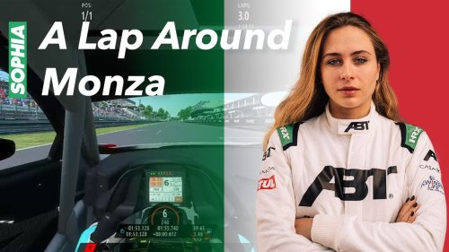 SOPHIA FLOERSCH - A LAP IN Monza   Track guide   SIM - real life   RF2   Audi GT3 R8 LMS    DTM