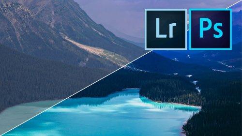 How to edit AMAZING LANDSCAPE PHOTOS with Adobe Lightroom & Photoshop