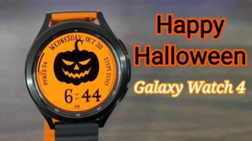 Galaxy Watch 4 Halloween Watch Face