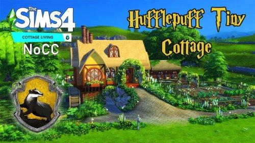 Hufflepuff Tiny Cottage    The Sims 4    Speedbuild    NoCC