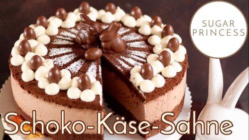 Schoko-Käse-Sahne-Torte backen! Traumhafte Ostertorte mit viel Schokolade | Rezept von Sugarprincess