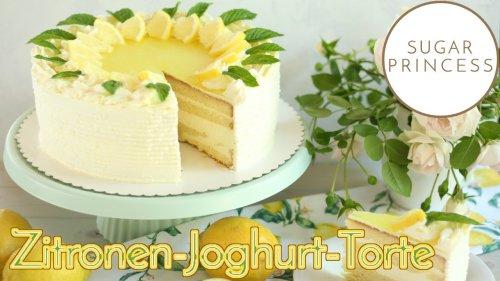 🍋 Super erfrischende Zitronen-Joghurt-Torte mit Götterspeise! 🍋   Rezept von Sugarprincess
