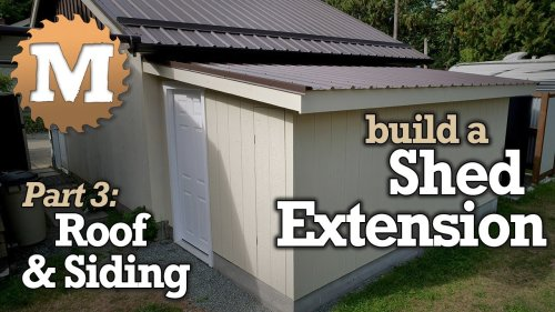 Build a Shed [Part 3- Finishing - Roof, Siding, Doors]