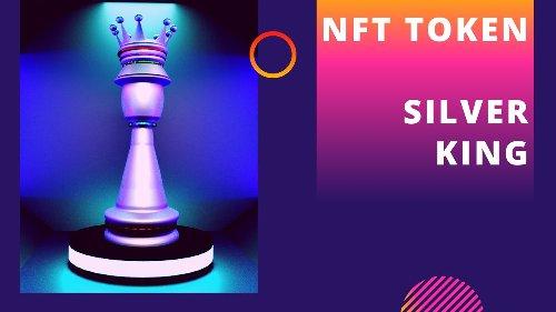 ✅ NFT TOKEN - Silver King - Chess Piece