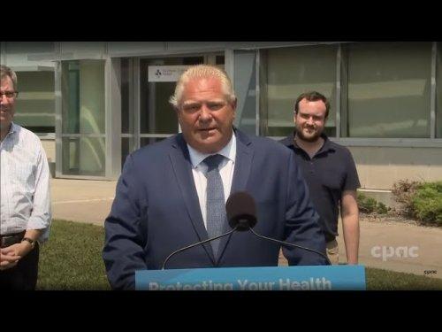 1315 ET Ontario Premier Doug Ford makes an announcement in Ottawa