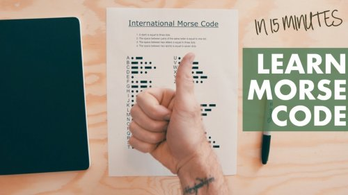 LEARN MORSE CODE from a MEMORY CHAMP (in 15 minutes)