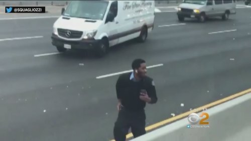 Dollar Bills Spill Out Of Armored Truck In New Jersey