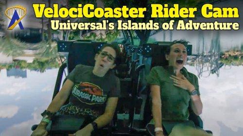 Jurassic World VelociCoaster Rider Cam at Universal Orlando's Islands of Adventure Park