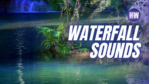 💦 Cave waterfall sounds • Water garden • Turquoise mountain river sounds • Slow living • Silent vlog