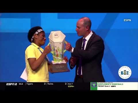 First African American wins U.S. spelling bee, conquering with 'Murraya'